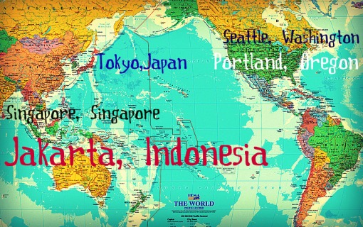 Pacific Rim travel map