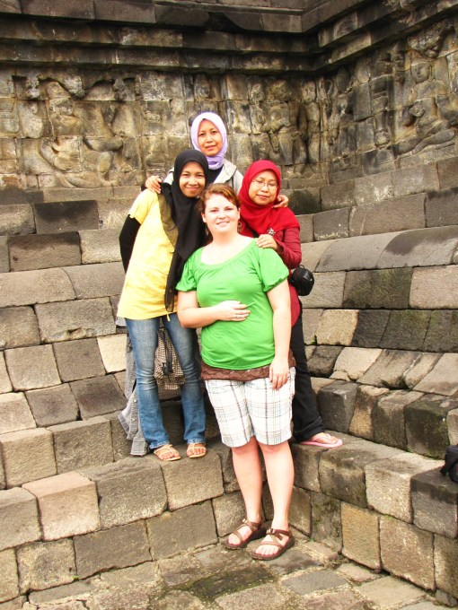The girls at Borobudur