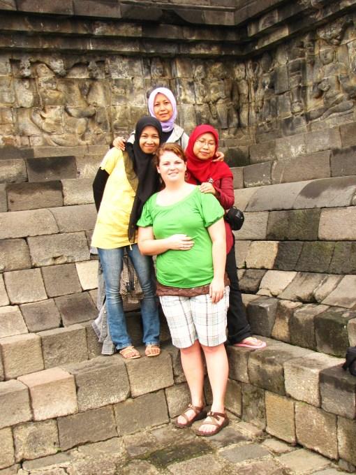 The girls at Borobudur